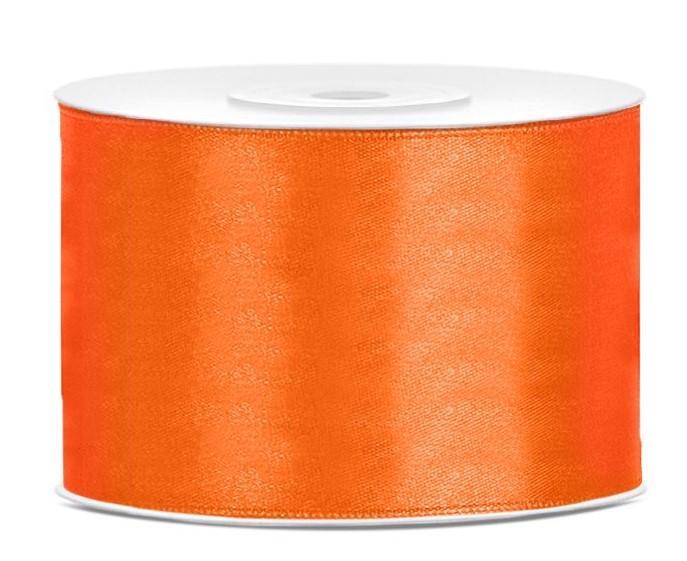Paris Dekorace Saténová stuha oranžová 50mm/25m