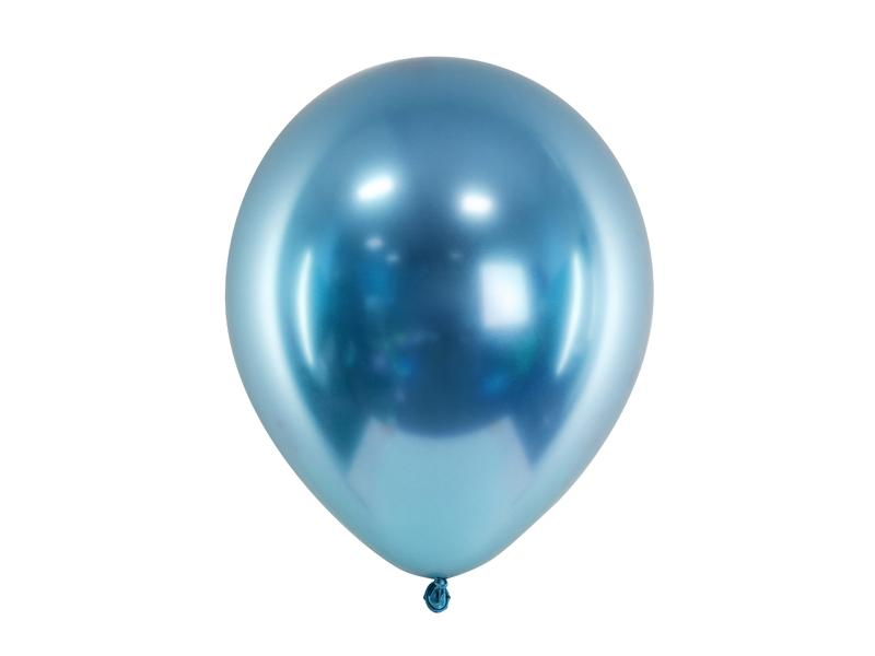 Paris Dekorace Balónek chromový modrý, 30 cm