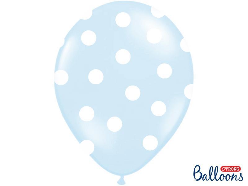 Paris Dekorace Balonky puntík Pastel baby blue