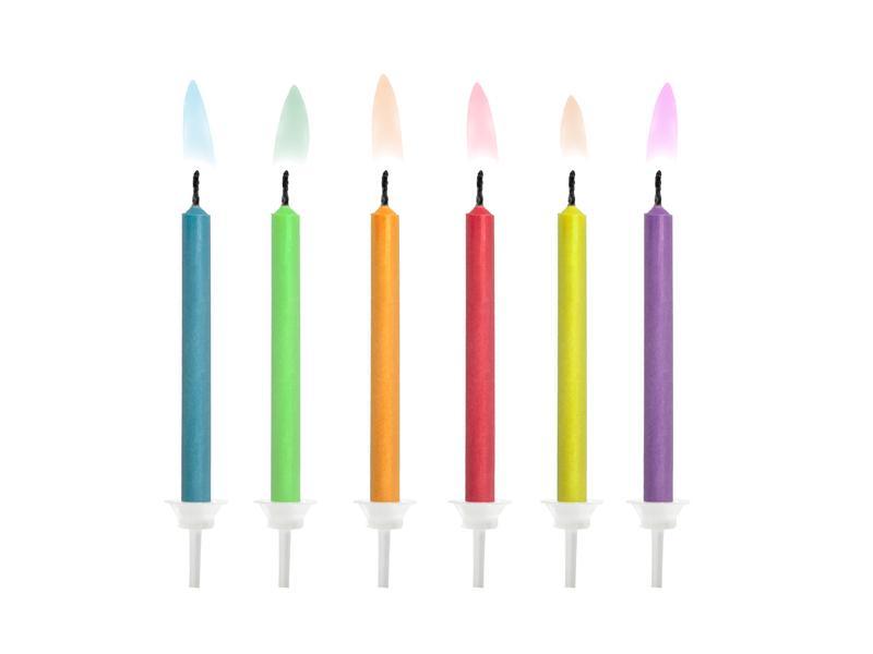 Paris Dekorace Narozeninové svíčky mix barev, 6 ks