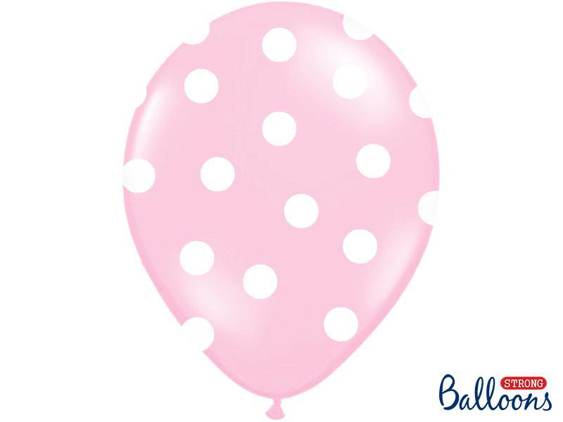 Paris Dekorace Balonky puntík pastel baby pink