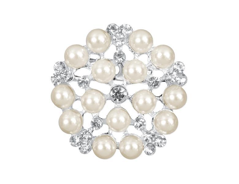 Paris Dekorace Ozdobná spona perla malá 25mm, 1ks