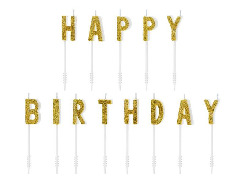 Paris Dekorace Narozeninové svíčky, Happy Birthday, 2,5cm