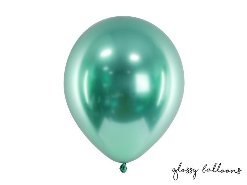 Paris Dekorace Balónek chromový láhvově zelená, 30cm