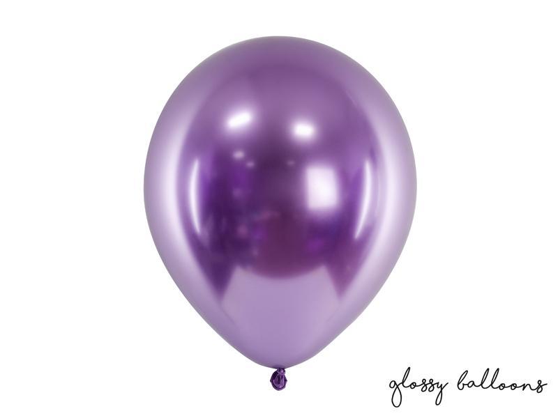 Paris Dekorace Balónek chromový fialová, 30 cm