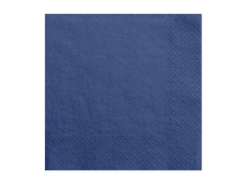Paris Dekorace Ubrousky jednobarevné námořnická modrá, 20 ks