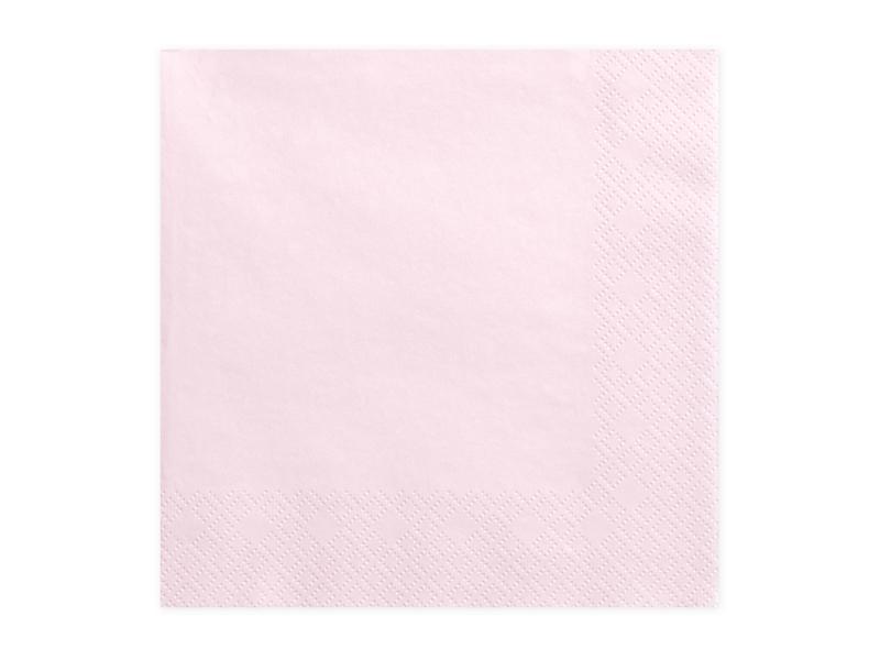 Paris Dekorace Ubrousky jednobarevné sv. růžová, 20ks
