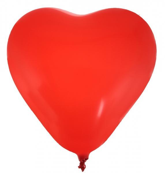 Paris Dekorace Balónky srdce červené 8ks