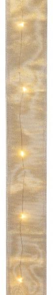 Paris Dekorace Zlatá svítící Led stuha, 5x150cm