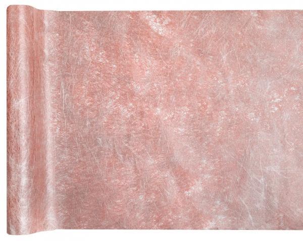 Paris Dekorace Metalická šerpa Premium, růžové zlato 30 cm x 25 m