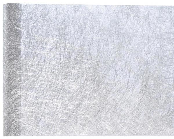 Paris Dekorace Metalická šerpa Premium, stříbrná 30 cm x 25 m