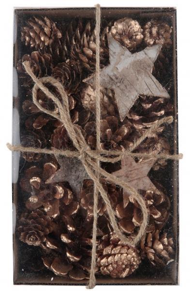 Paris Dekorace Balení dekoračních šišek a hvězd, 180 g