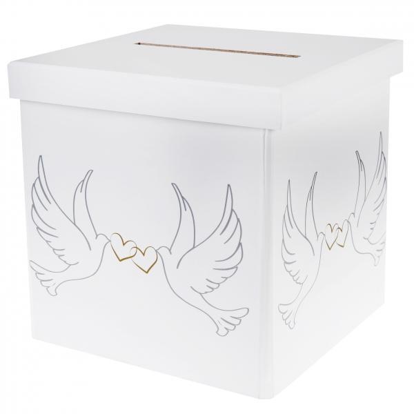 Paris Dekorace Svatební krabice na peníze - holubice