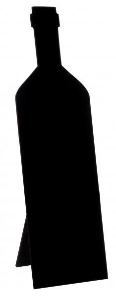 Paris Dekorace Láhev černá tabulka, 9x29,3cm