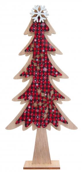 Paris Dekorace Vánoční dřevěná dekorace - strom